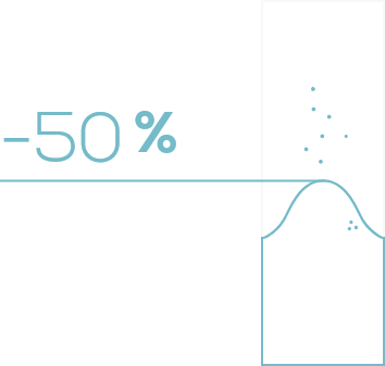 meno 50%